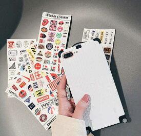 【メール便送料無料】あまりのかわいさに見せびらかしに、ちょっと遠出がしたくなるかも♪男女問わず使えるスーツケース風スマホケースiPhone6,6s,iPhone7,7Plus,iPhone8,8Plus,iPhoneX