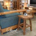 あす楽対応 オールドチークを使用したスクエアスツール F03 サステナブル 無垢材 チェア 椅子 腰掛 ベンチ 木製 古材 …