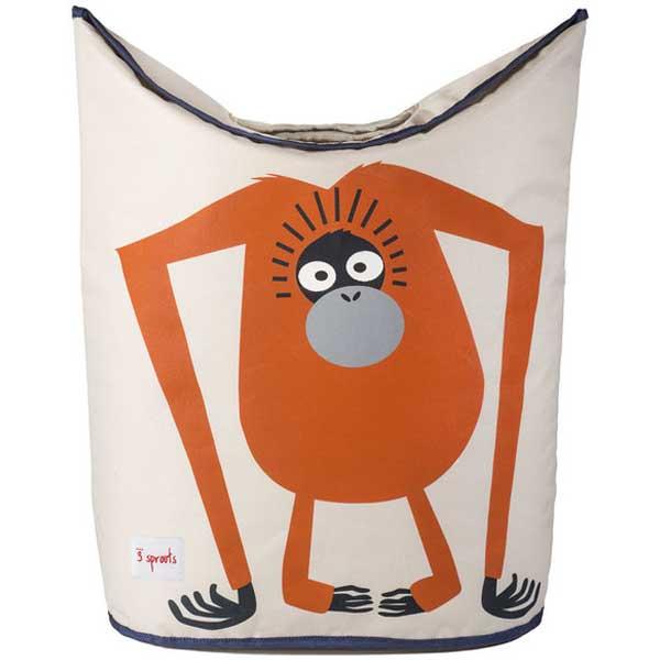 スリースプラウツ 3sprouts ランドリーバスケット Laundry Basket オランウータン Orangutan