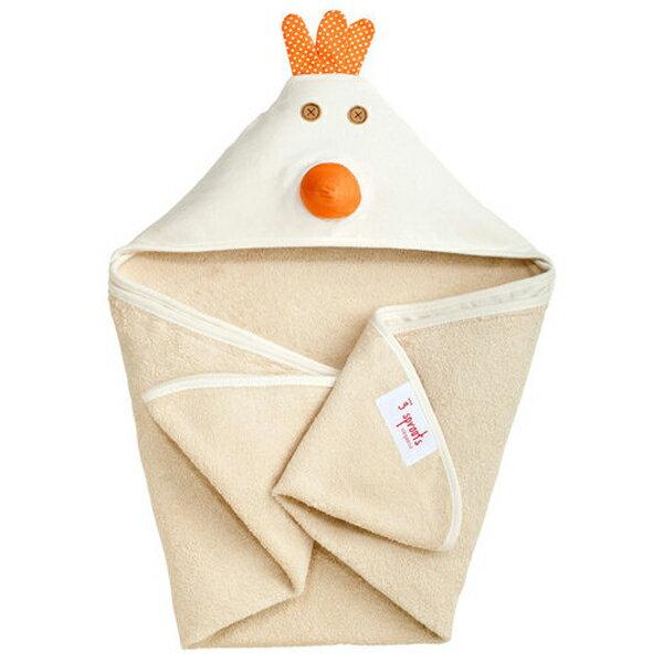 【あす楽】スリースプラウツ 3sprouts フーディータオル Hooded Towel チキン Chicken にわとり【asrk_ninki_item】