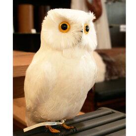 プエブコ PUEBCO ARTIFICIAL BIRDS バードオブジェWhite Owl白フクロウLサイズ /111070