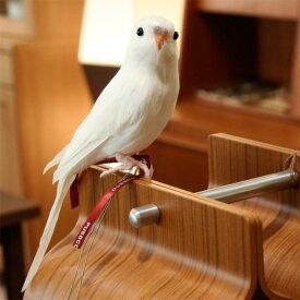 プエブコ PUEBCO ARTIFICIAL BIRDS バードオブジェBudgieセキセイインコ・ホワイト /126074