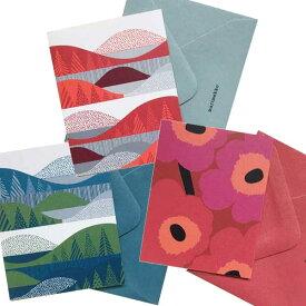 【あす楽】マリメッコ marimekko ギフトタグ&封筒 Gift Tag & Envelope 3枚セット