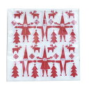 【あす楽】ペンティック PENTIK ペーパーナプキン Paper napkin トントゥ レッド 33×33cm 【asrk_ninki_item】