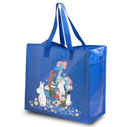 【あす楽】ムーミンmoominショッピングバッグジッパー付Shoppingbagムーミンと仲間達ブルー