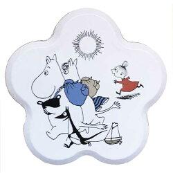 【あす楽】マルチネクスmartinexムーミンmoominティンボックスTinBox花型ムーミンと仲間達ピクニックホワイト×レッド