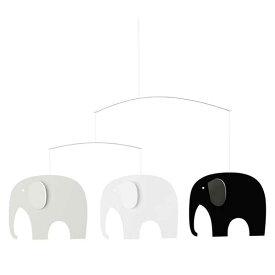 フレンステッドモビール Flensted mobiles エレファントパーティー Elephant Party ブラック/ホワイト FSM130161
