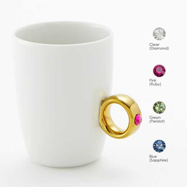 Floyd フロイド Cup Ring カップリング White / Gold ホワイト / ゴールド