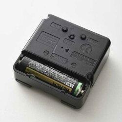 イデアideaブルーノBRUNO電波コレクションフォントクロックブラックBCR016-BK