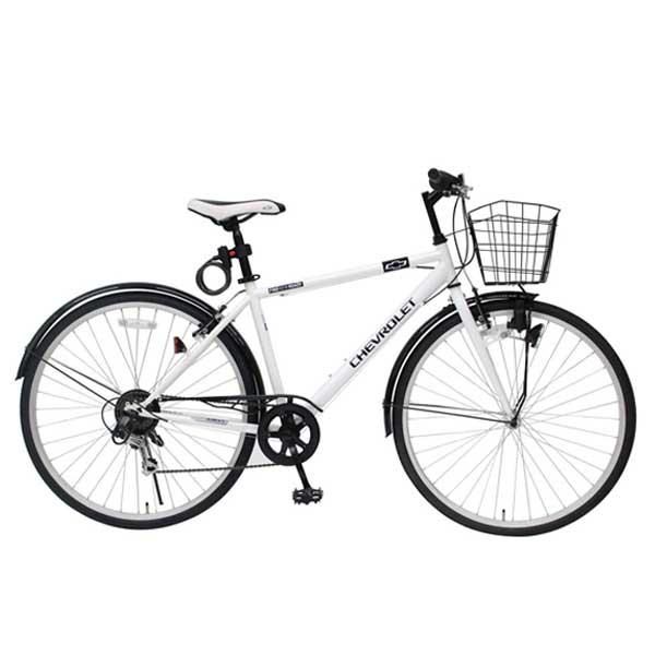 CHEVROLET CROSSBIKE 700C6SF シボレー700Cクロスバイク 6段ギア ホワイト MG-CV7006F-RL 【ラッピング不可】【代引不可】【北海道・沖縄・離島配送不可】