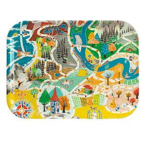 ピーオーエス POS オプトデザイン Opto design ムーミン Moomin トレイ S 地図 27 x 20cm OPD060033