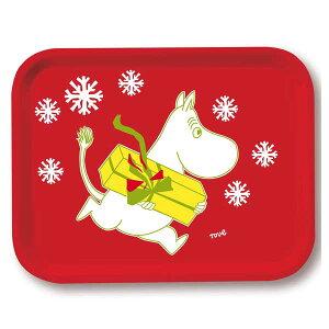 【あす楽】オプトデザイン Opto design ムーミン Moomin トレー S クリスマスムーミン(レッド) 27 x 20cm 101-6 【asrk_ninki_item】