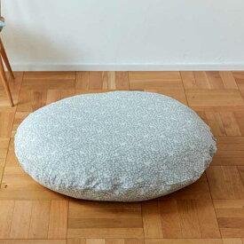Quarter Report クォーターリポート RiekoOka フロアクッション100 Floor Cushion100 小鳥 Kotori (カラー:グレー・イエロー・ブルー)
