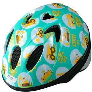 TETE テテ ヘルメット Splash Heart  スプラッシュハート はたらく車 ブルーグリーン Sサイズ【送料無料】