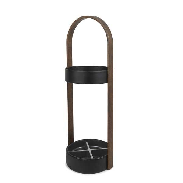 アンブラ umbra ハブ アンブレラスタンド Hub Umbrella Stand ブラック/ウォルナット 2320240-048【ラッピング不可】