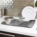 アンブラ umbra ユードライ ミニドライングマット UDRY MINI Dish Rack & Drying Mat チャコール 21004301-149