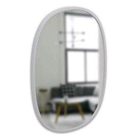 アンブラ umbra ハブ ミラー オーバル 46×61 グレー 21013765918