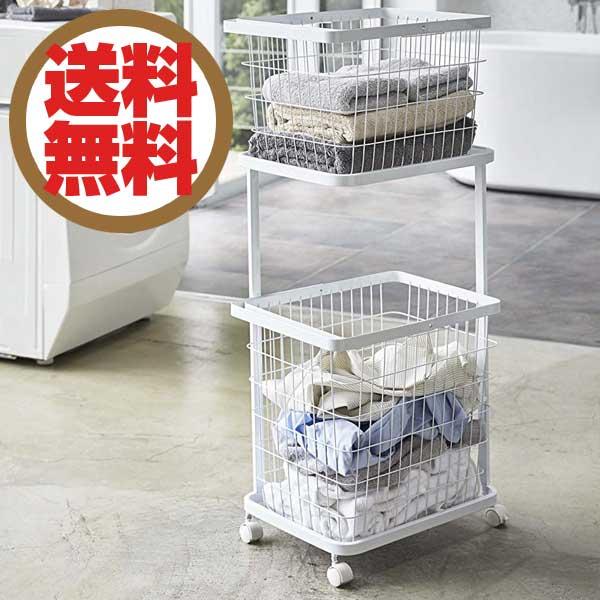 タワー Tower ランドリーワゴン+バスケット Laundry Wagon + Basket ホワイト WH 03351 【送料無料】【ラッピング不可】
