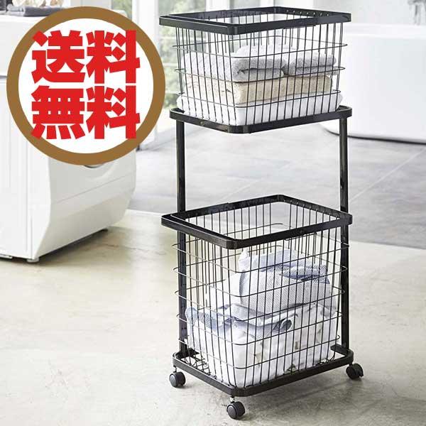 タワー Tower ランドリーワゴン+バスケット Laundry Wagon + Basket ブラック BK 03352 【送料無料】【ラッピング不可】