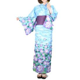 オリジナル浴衣(紫陽花-あじさい-)