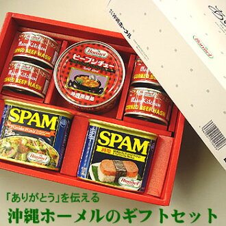 Okinawa Hormel year-end present midyear gift gift B set - spam SPAM pork luncheon meat corned beef hash beef stew canned food midyear gift gift set
