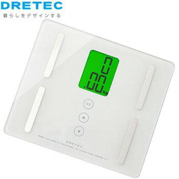 【送料900円】ドリテックDRETEC コンパクトサイズ体組成計 プティプラス BS-221WTホワイト