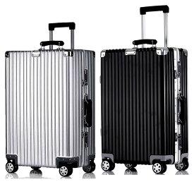 スーツケース レトロ M newTSAロック搭載 キャリーケース アルミフレーム ベルトフック付き 旅行 軽量 8輪