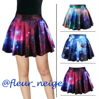 Cosmo space pattern print dance clothes hip-hop Lady's skirt circular mini-short length space pattern dance kids dance clothes flamboyance bottoms stage costume girls clothes fitness kids dance jazz yoga clothes stage clothes