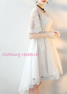 Wedding dress second party dress party dress bride wedding ceremony race graduating students' party to honor teachers invite party wedding ceremony dress dress line dress colored racesless medium length bride wedding Tulle banquet photography dress conce