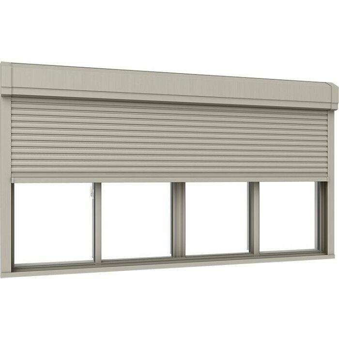 サーモスII-Hシャッター付引違い窓4枚建て半外付型LOW-E複層ガラス仕様標準タイプ電動25613W:2,600mm×H:1,370mmリクシルトステム