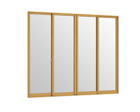 インプラス 引違い窓 4枚建 和紙調格子入り複層ガラス W:3,001〜4,000mm × H:1,401〜1,900mm 内窓 二重窓 LIXIL リクシル TOSTEM トステム
