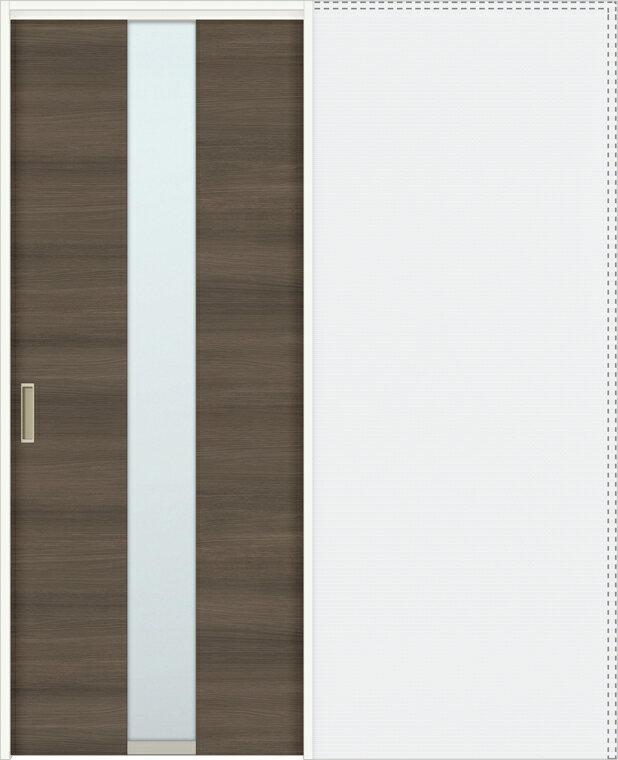 特注サイズ ラシッサD ラテオ 上吊引戸 引込み戸標準 ALUHK-LGM 錠付 W:1188-1992mm × H:1750-2425mm ノンケーシング / ケーシング