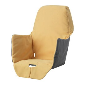 IKEA イケア クッション入りシートカバー ハイチェア用 イエロー n50352641 LANGUR