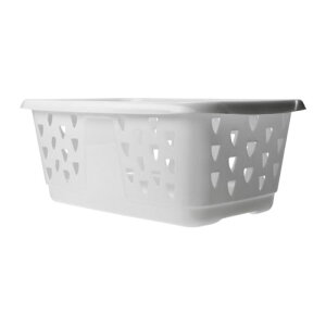 IKEA イケア BLASKA ランドリーバスケット ホワイト d20214533