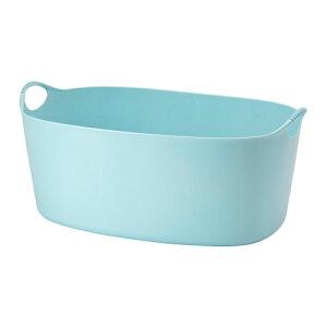 IKEA イケア TORKIS フレキシブルランドリーバスケット 室内/屋外用 ブルー 青 a30339226