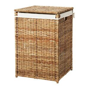 IKEA イケア BRANAS ランドリーバスケット 内袋付き 籐 d70216935