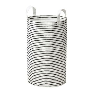 IKEA イケア KLUNKA ランドリーバッグ ホワイト ブラック n30364372