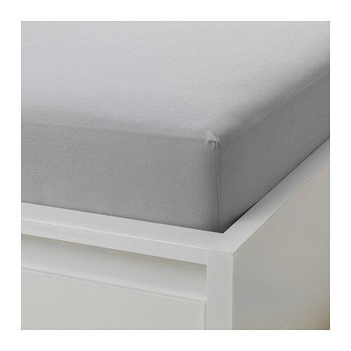 IKEA(イケア) VAGTISTEL ボックスシーツ ライトグレー d10385865