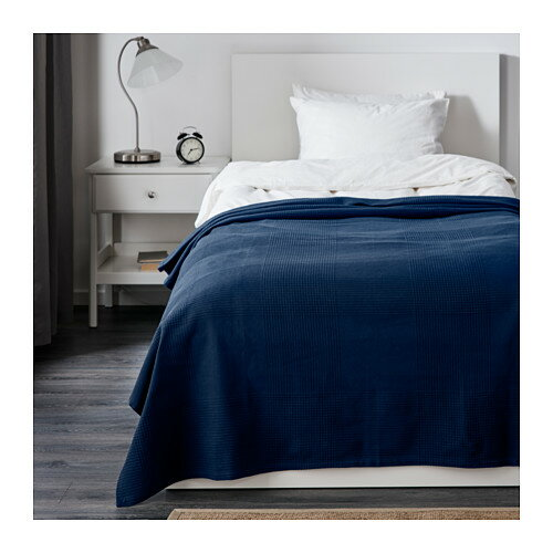 IKEA(イケア) INDIRA ベッドカバー ダークブルー 30191767