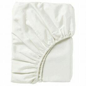 IKEA イケア ボックスシーツ カバー ホワイト クイーンサイズd40343708 NATTJASMIN