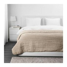 IKEA イケア VEKETAG ベッドカバー ダブル ベージュ 250x260 z10381933