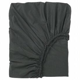 IKEA イケア ボックスシーツ ブラック クイーンサイズ z30357277 DVALA