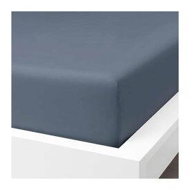 IKEA イケア ボックスシーツ ブルーグレー クイーンサイズ z30412764 SOMNTUTA