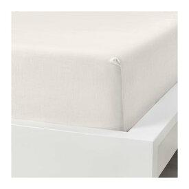 IKEA イケア ボックスシーツ ホワイト クイーンサイズ z70398469 PUDERVIVA
