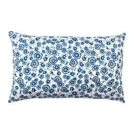 IKEA イケア クッション フラワー ブルー ホワイト SANGLARKA n80426990