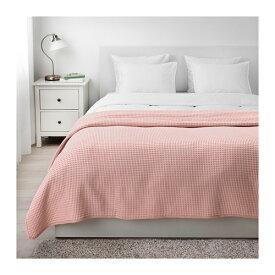 IKEA イケア VARELD ベッドカバー ダブル ライトピンク 230x250 z90406246