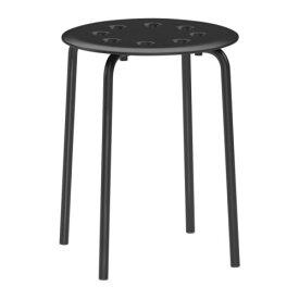 IKEA イケア MARIUS スツール ブラック 黒 c00162380