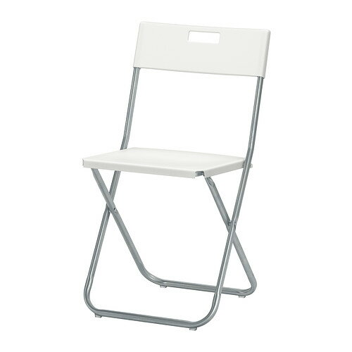IKEA(イケア) GUNDE 折りたたみチェア ホワイト c20217800
