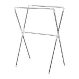 IKEA イケア REKIS 洋服ラック 室内/屋外用 シルバーカラー d20273669