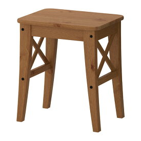 IKEA イケア INGOLF スツール アンティークステイン z20362726